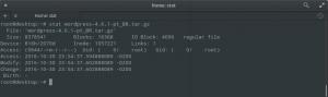 Linux stat